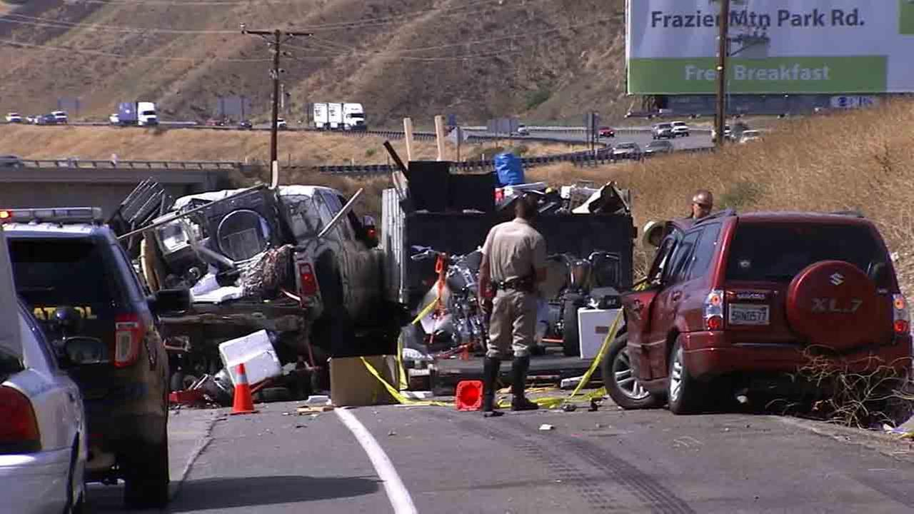 Injured In 5 Freeway Crash In Castaic