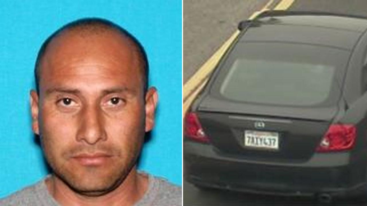 Jose Luis Trujillo, 45, is pictured alongside an image of the vehicle he may be driving.