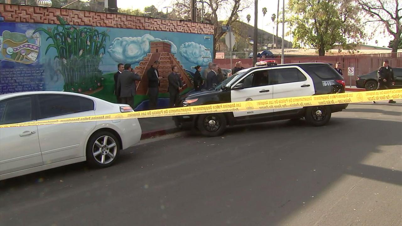 Officials investigate an officer-involved shooting that left one man dead in El Sereno.