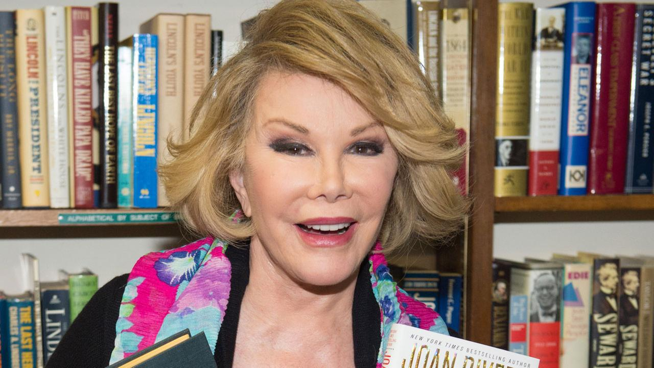Joan Rivers makes an appearance at Book Revue to promote her new memoir, Diary of a Mad Diva, on Friday, July 25, 2014 in New York.