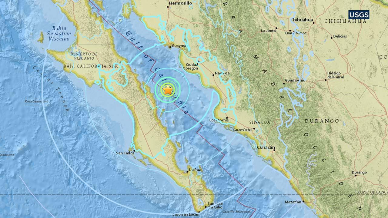 this map from the us geological survey indicates the location of an earthquake that struck around