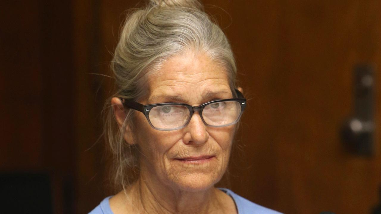 This Sept. 6, 2017 file photo shows Leslie Van Houten at her parole hearing at the California Institution for Women in Corona, Calif.