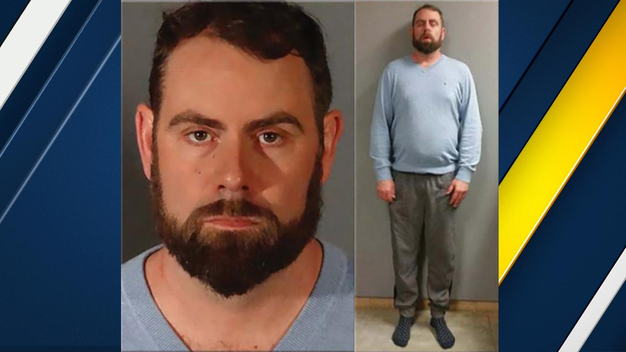 Jason Kirk Lanning is seen in a booking photo after his arrest on suspicion of indecent exposure.