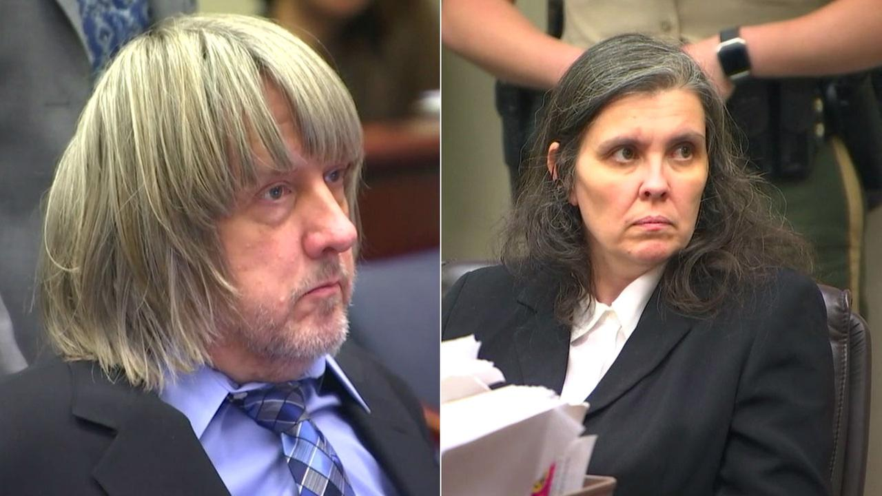 David Turpin and his wife Louise Turpin are shown during a court hearing on Wednesday, Jan. 24, 2018.