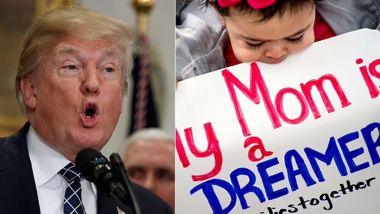 President Donald Trump said hes open to an immigration plan that provides a pathway to citizenship for people who were brought to the U.S. as children and are now here illegally.