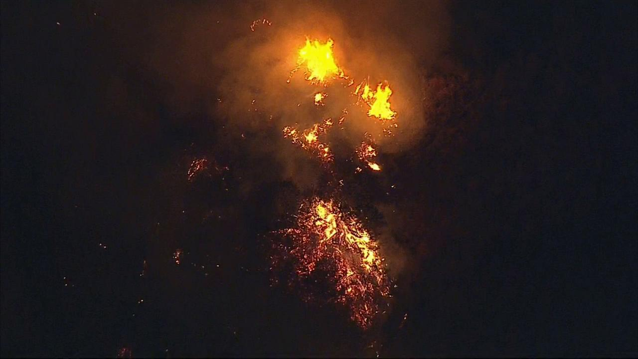A fire erupted in San Dimas on Wednesday, Sept. 10, 2014.