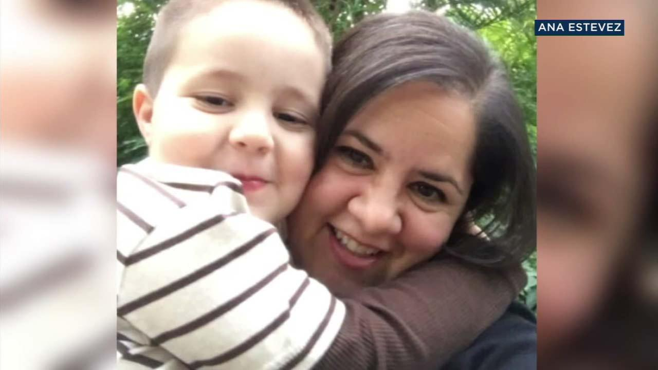 Ana Estevez is shown with her son who she called Piqui in an undated photo.