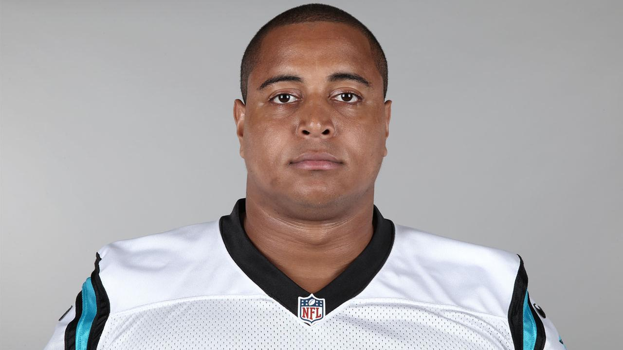 This is a 2015 photo of Jonathan Martin of the Carolina Panthers NFL football team.