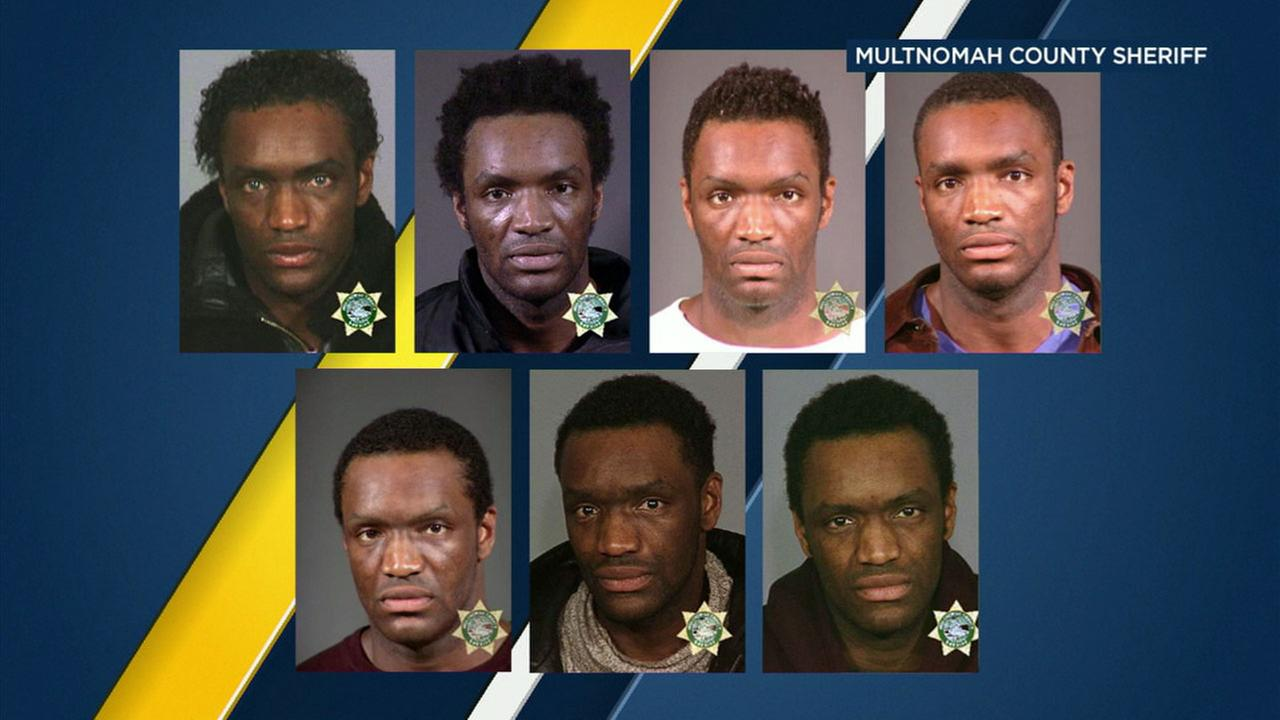 Terry Bryant, 47, is shown in a series of mugshots taken by authorities in the Portland, Oregon, area.