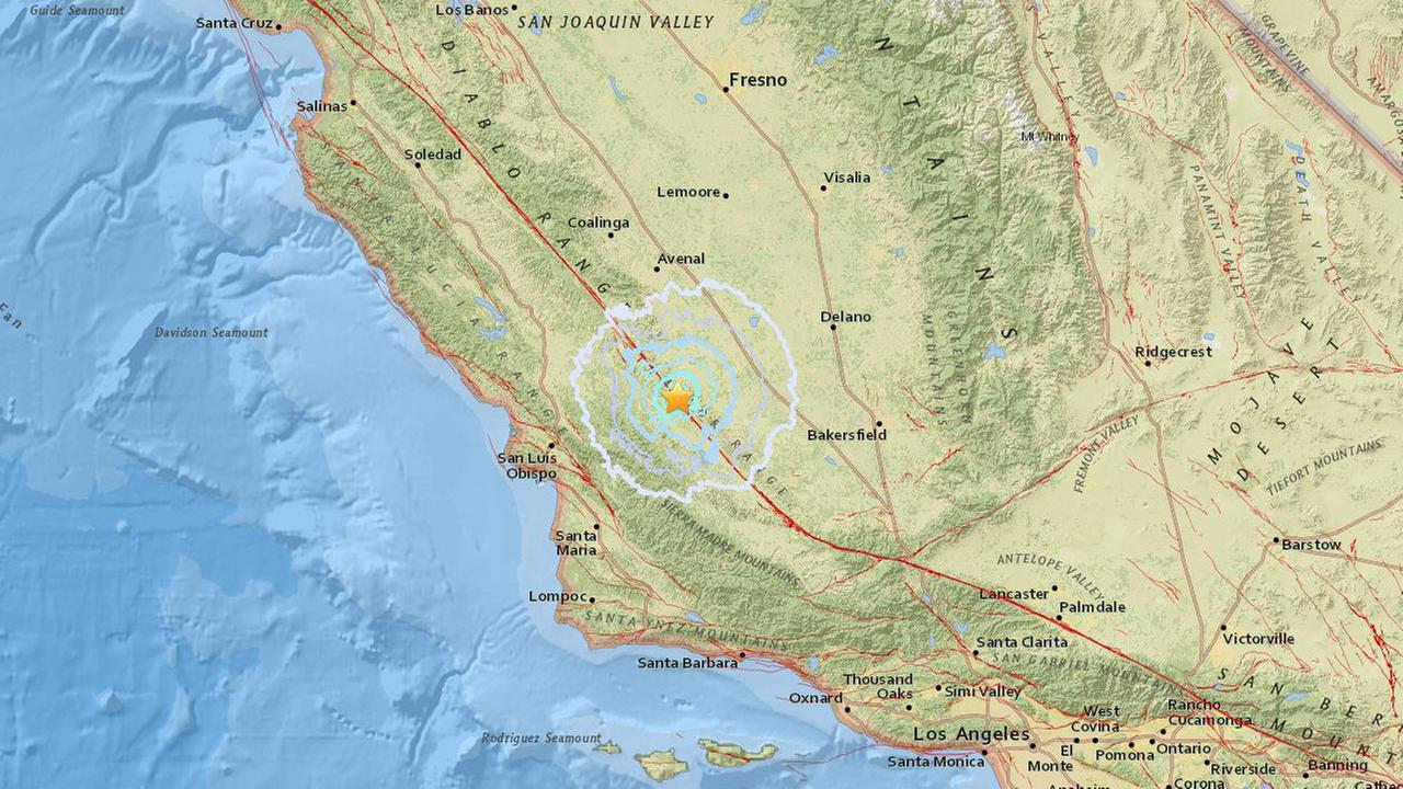 A preliminary-magnitude 3.7 earthquake struck Wednesday, March 7, 2018, near the remote community of Simmler in San Luis Obispo County, the U.S. Geological Survey said.