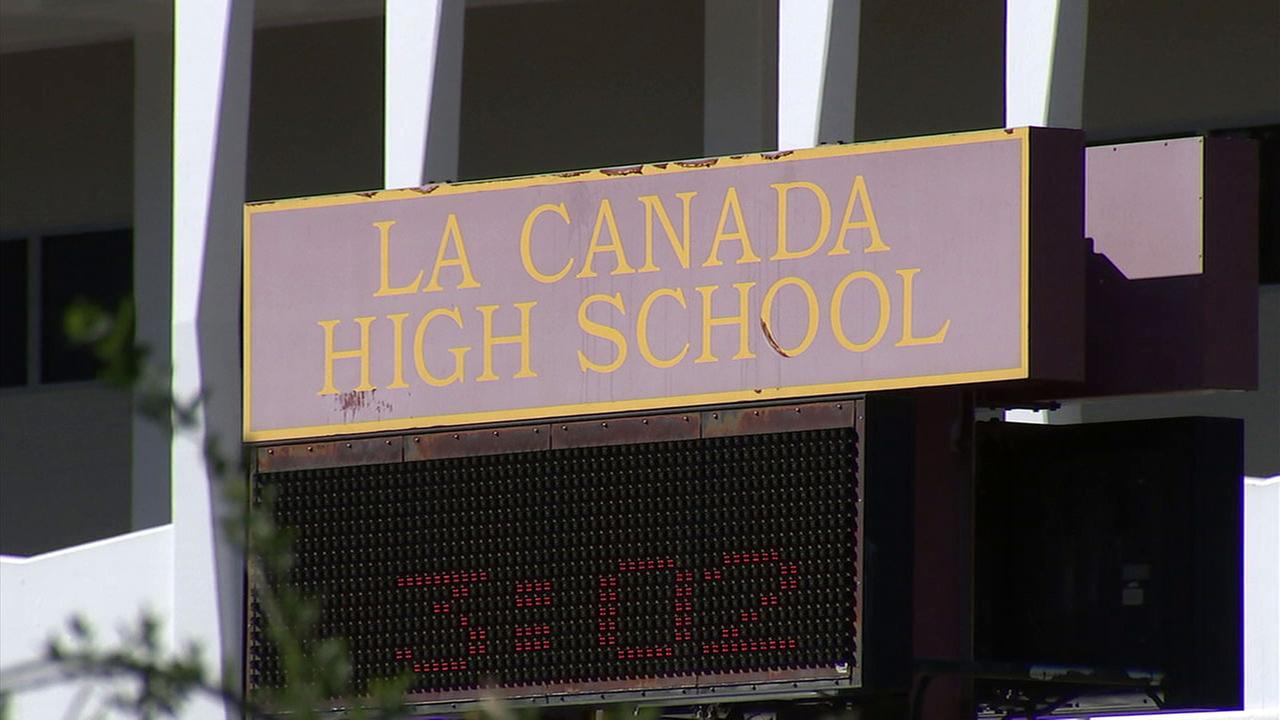 The sign for La Canada High School is shown in this undated file image.