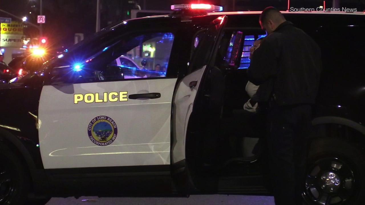 Long Beach police shot and critically wounded a man in a vehicle Tuesday, March 14, 2018, during a traffic stop, officials said.