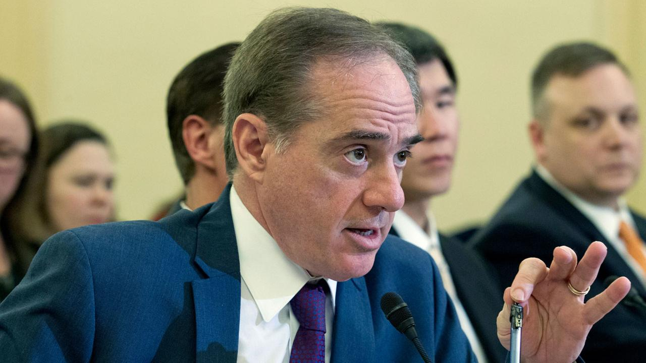 Veterans Affairs Secretary David Shulkin testifies on FY2019 and FY2020 budgets for veterans programs on Capitol Hill, Wednesday, March 21, 2018, in Washington.