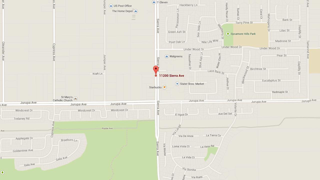 This Google Maps image shows the location of an indecent exposure incident that occurred outside of a Starbucks on the 11200 block of Sierra Avenue on Sunday, Sept. 28, 2014.