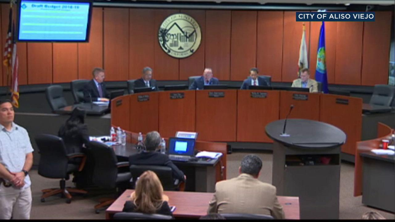 Aliso Viejo council members voted to join a lawsuit against California over the states sanctuary law on Wednesday, April 4, 2018.