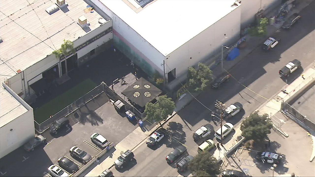 Los Angeles police are investigating a report of two people being stabbed in Venice behind Golds Gym.