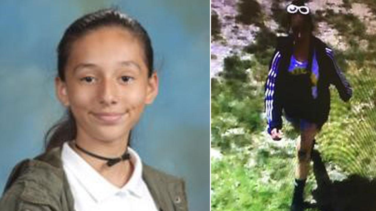 Yvonne Paredes-Orozco, 13, is shown in a school photo alongside a surveillance image of her the day she went missing after leaving her Santa Ana school.