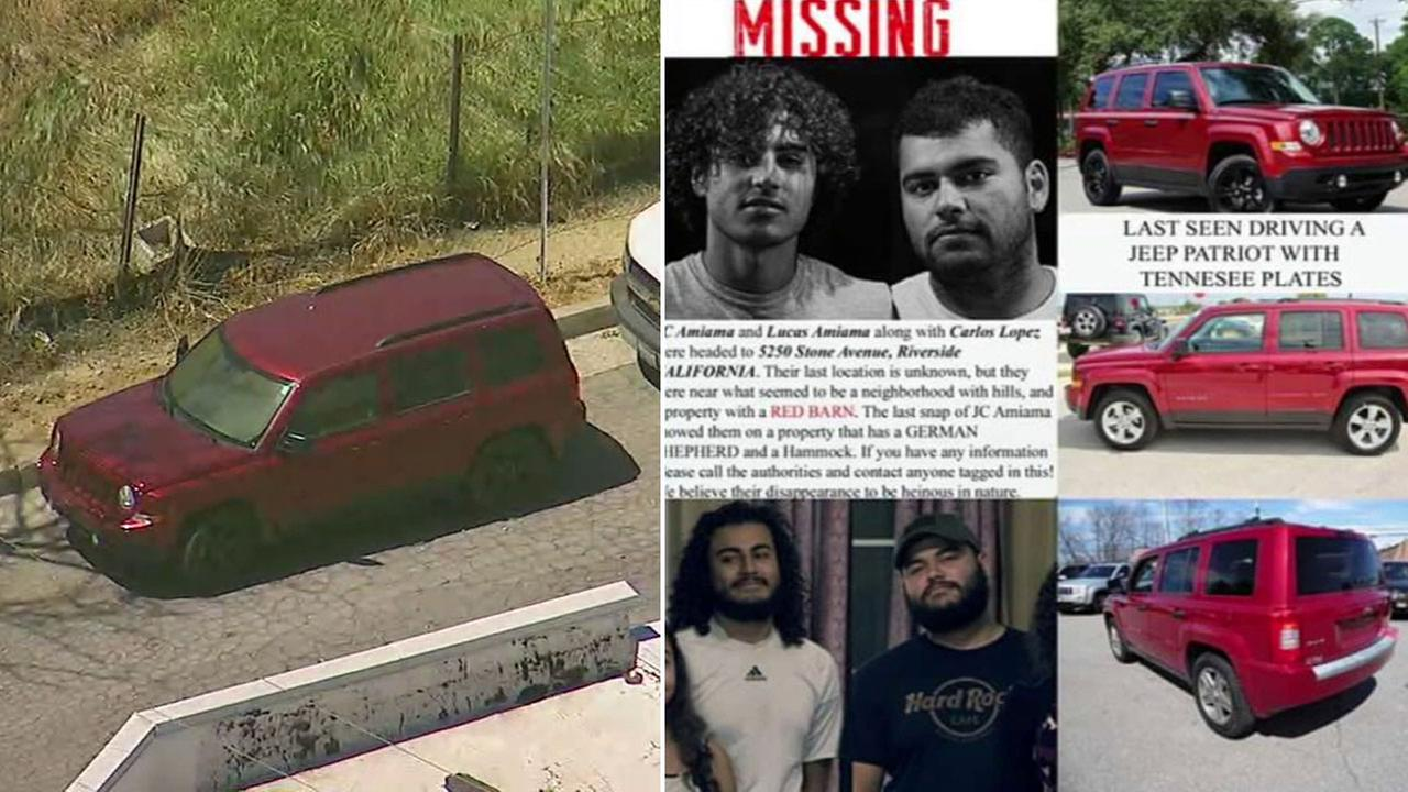 Three bodies were found in an SUV in Burbank and police are investigating whether they are three men who were reported missing from the Bakersfield area.