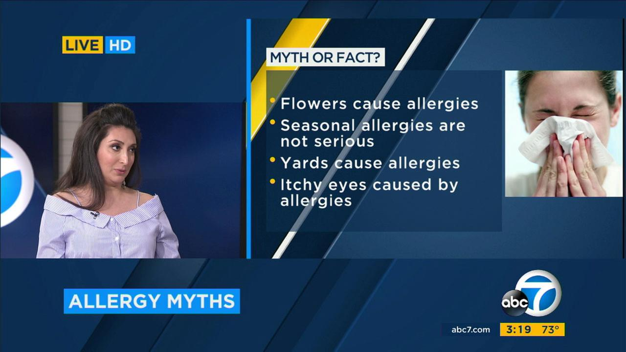 Optometrist Dr. Arian Fartash spoke to Eyewitness News about common allergy symptoms and treatments.