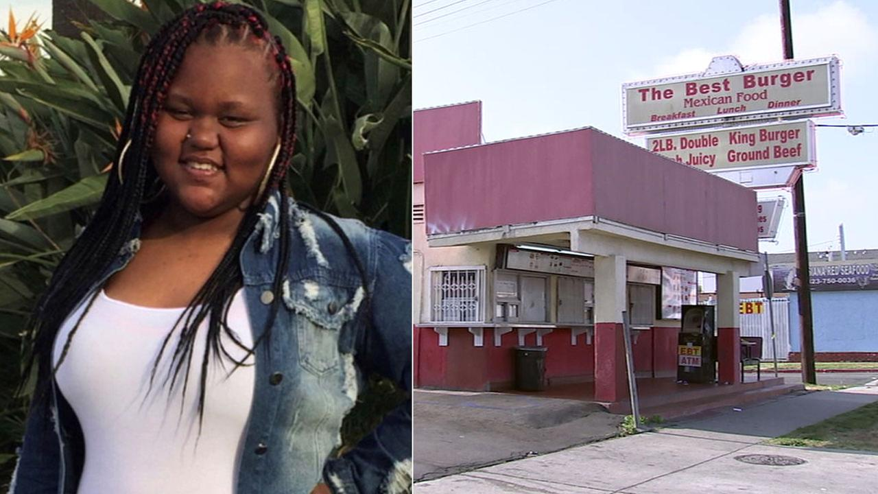 Hannah Bell, a 15-year-old girl gunned down outside a burger stand in South Los Angeles Friday, April 27, 2018.