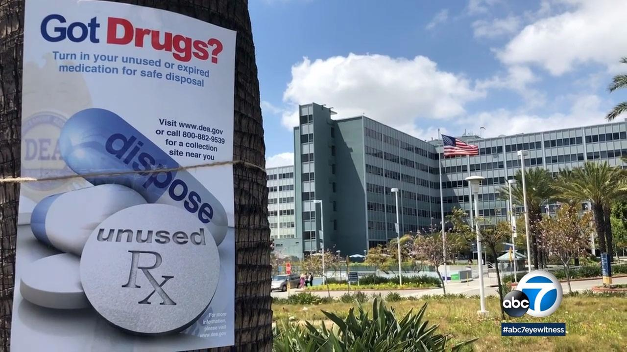 The Long Beach Police Department collected nearly 600 pounds of drugs at its drug take-back event.