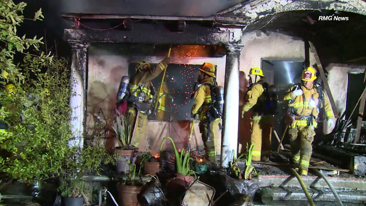 An accidental fire burned a home in Van Nuys on Saturday, killing a dog and injuring a teen, fire officials said.