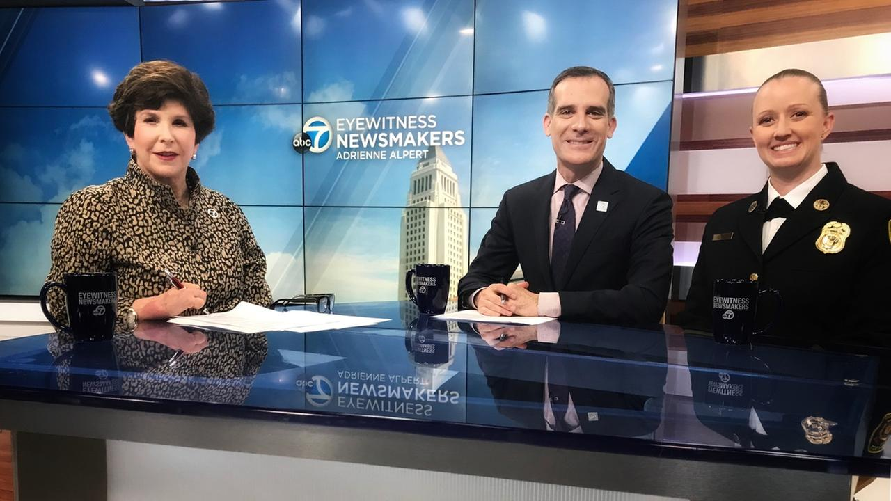 Mayor Eric Garcetti and LAFD Chief Kady Kepner spoke about recruitment of female firefighters on Eyewitness Newsmakers.