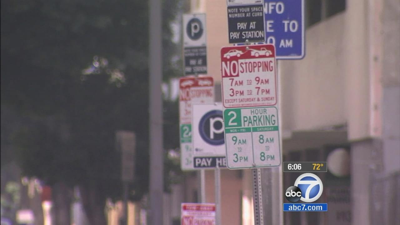 Parking around Los Angeles can seem daunting, especially with those wordy signs. Now, new signs are in the works meant to clear up some of the confusion.