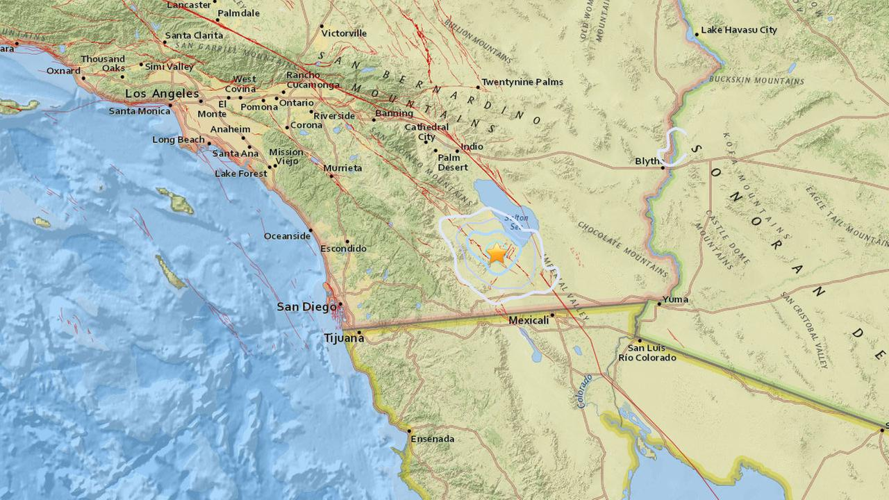 A 3.8-magnitude earthquake, followed by two others, struck 14.3 miles east-southeast of Ocotillo Wells in San Diego County on Saturday, according to the U.S. Geological Survey.