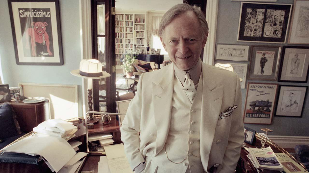 Author Tom Wolfe poses in his New York apartment, Nov. 12, 1998. Wolfe, 68, just published his first novel in 11 years, a novel about Atlanta in the 1990s called A Man in Full.