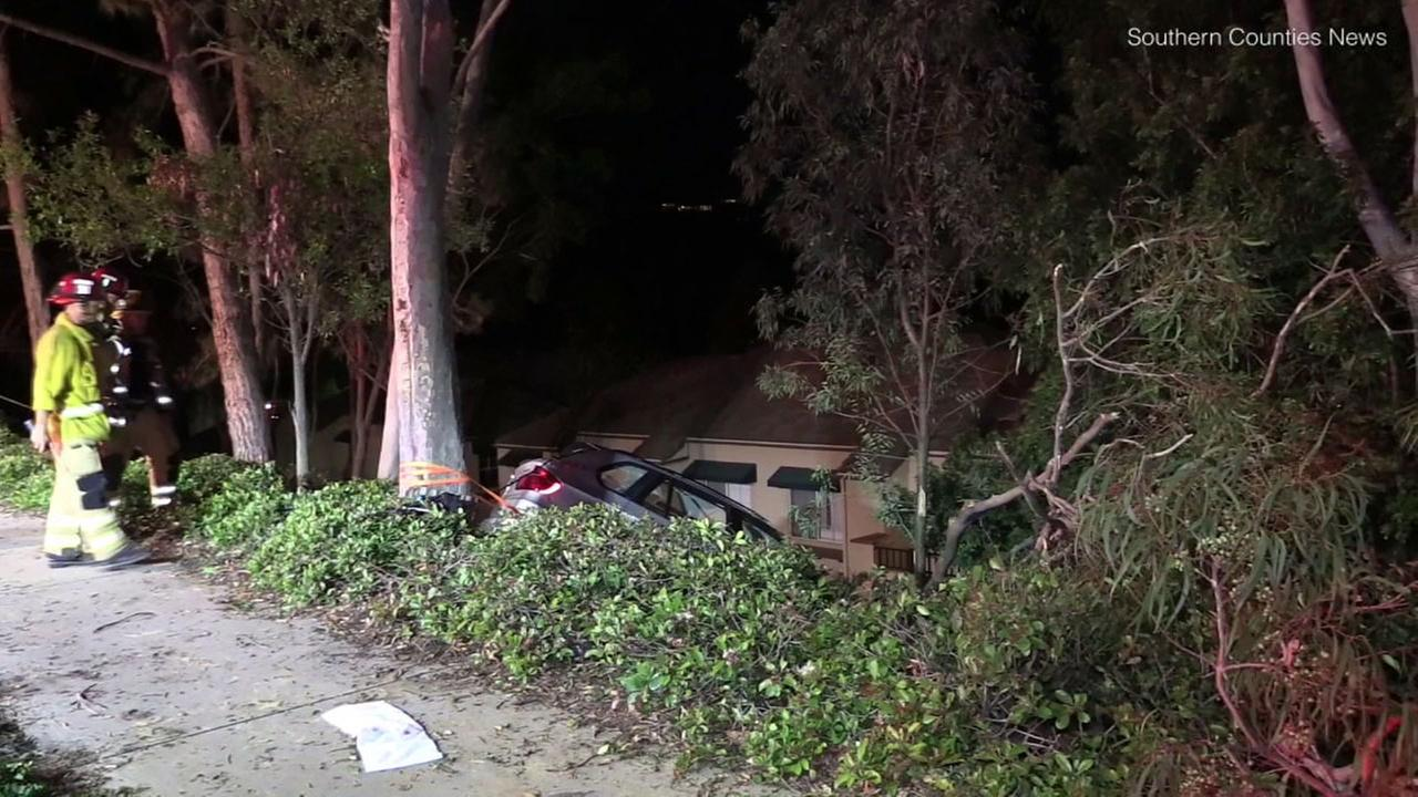 A car that struck four members of the same family, killing one, in Irvine Wednesday, May 16, 2018, police said.