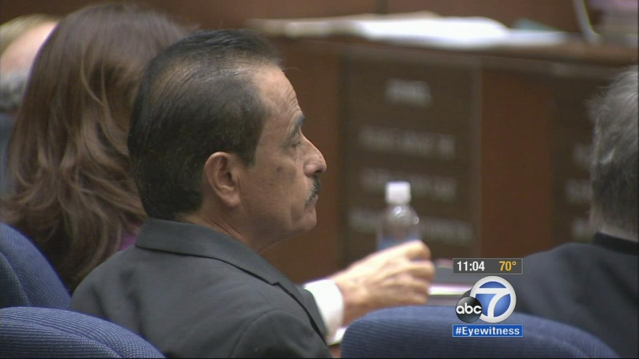 Former Los Angeles City Councilman Richard Alarcon is shown in a Los Angeles courtroom on Tuesday, Oct. 14, 2014.