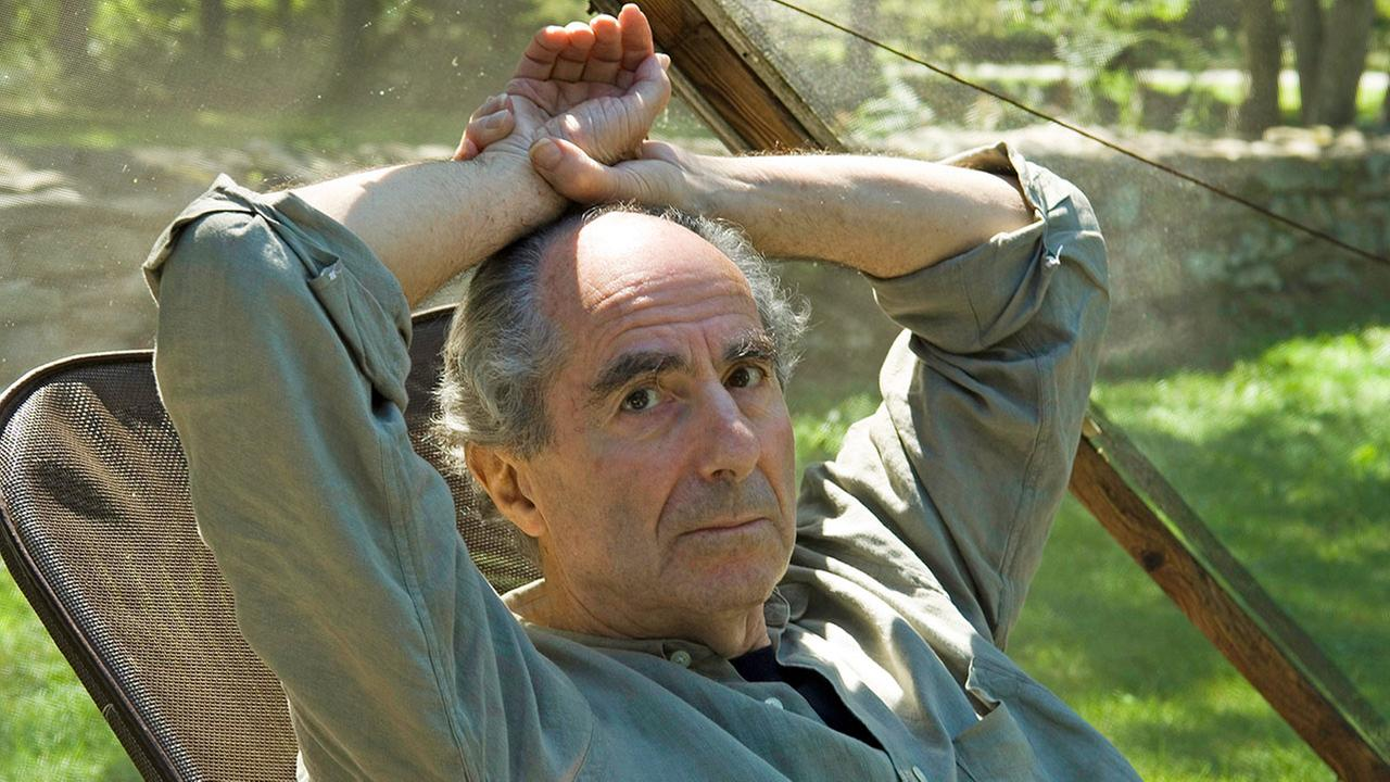 Author Philip Roth sits at his Connecticut home in this file image from 2005.