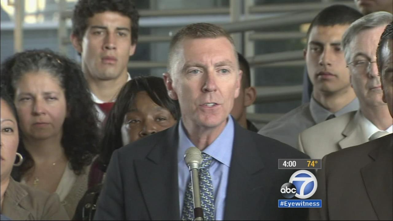 LAUSD Superintendent John Deasy submitted his resignation Thursday, Oct. 16, 2014.