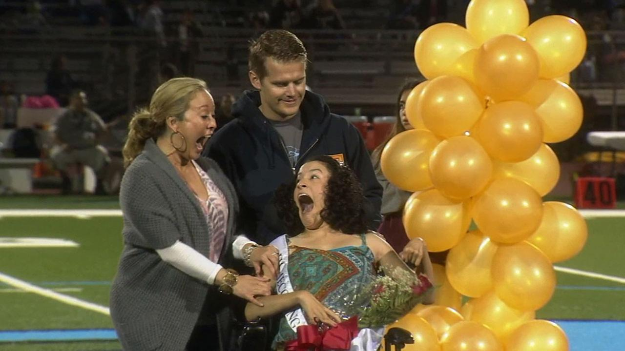 Melissa Andrade was elected Ontario High Schools homecoming queen Thursday, Oct. 16, 2014.