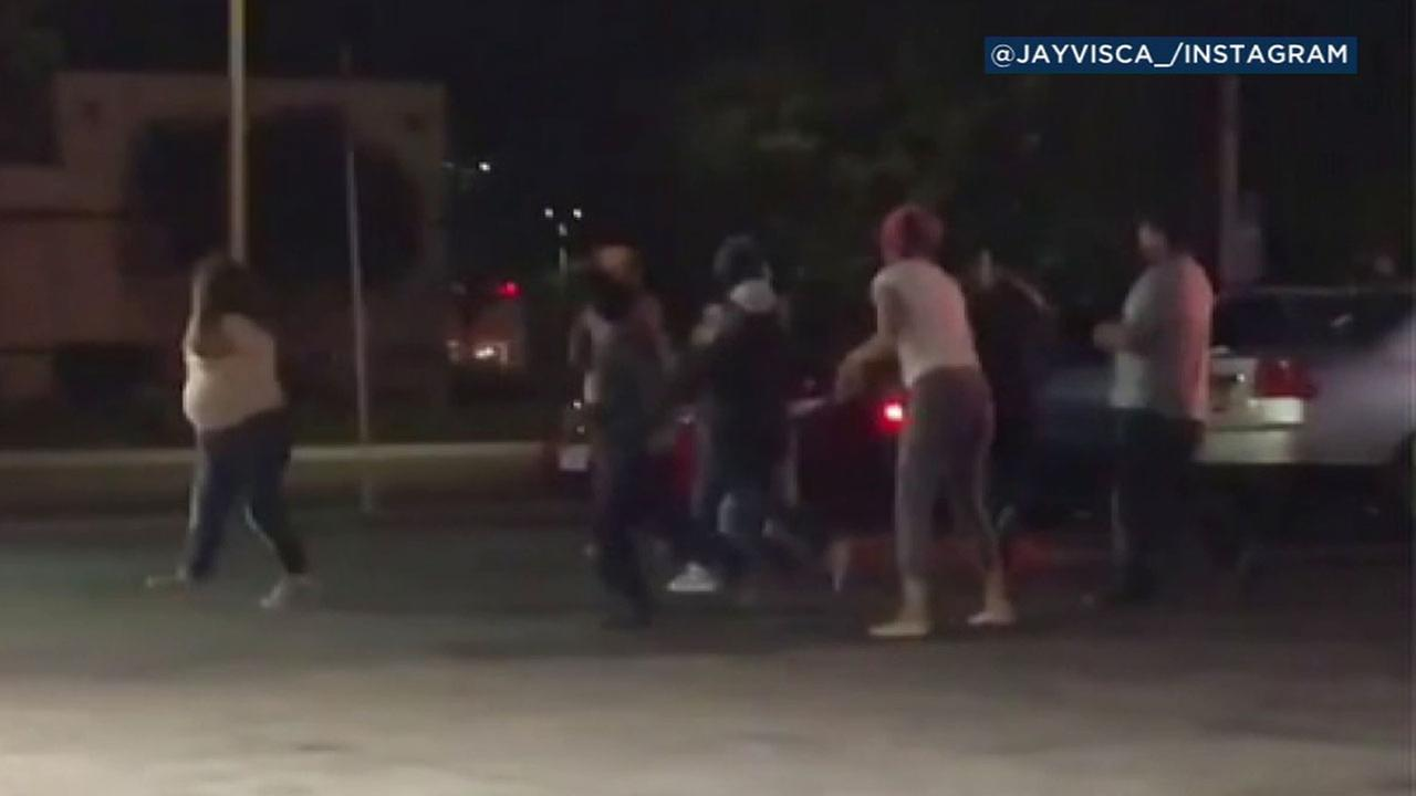 A family had $700 in rent money stolen in a brawl at a Lancaster gas station.