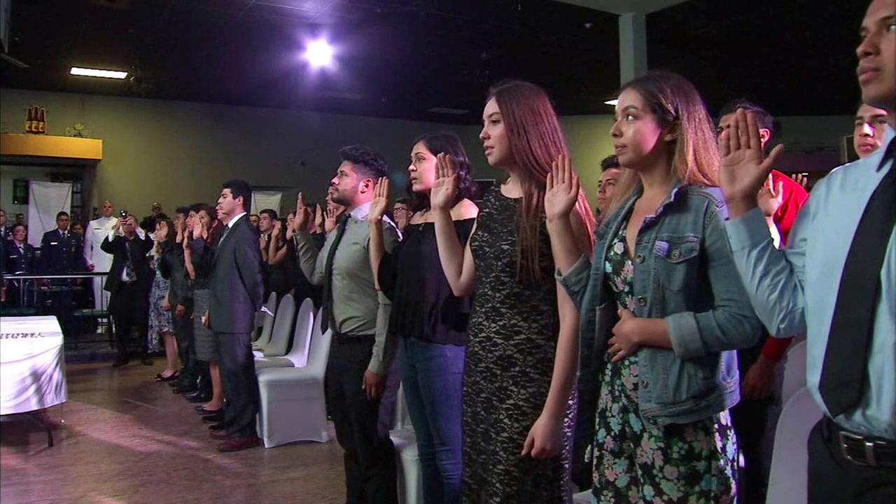 A group of young people was celebrated in Pico Rivera on Wednesday for their commitment to serving their country.