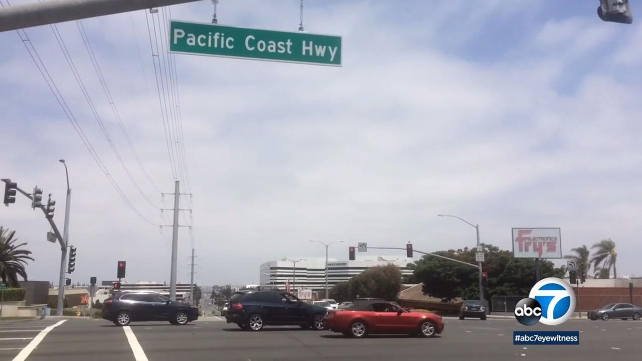 Sepulveda Boulevard has been renamed in El Segundo to Pacific Coast Highway.