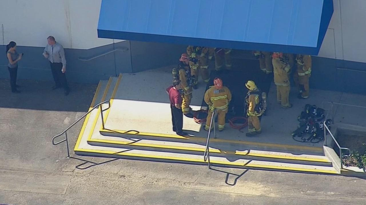Monrovia firefighters were called to Canyon Oaks High School about an odor coming from a chemistry lab at 12:28 p.m., Monday, Oct. 20, 2014.
