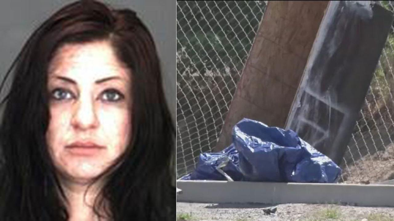Authorities say the body of Marlene Santellan, 34, of San Bernardino was found in a parking lot next to a box that appeared to be a makeshift coffin.