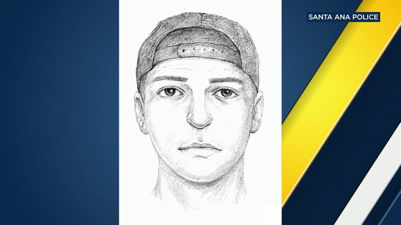 Santa Ana police released this sketch of a man who exposed himself in the bedroom of a teen girl.