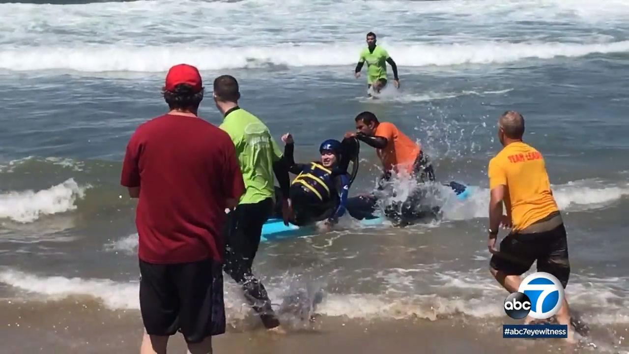 The Best Day Foundation hosted a beach day for children with special needs, including those with autism, Down syndrome, cerebral palsy, blindness and cancer.
