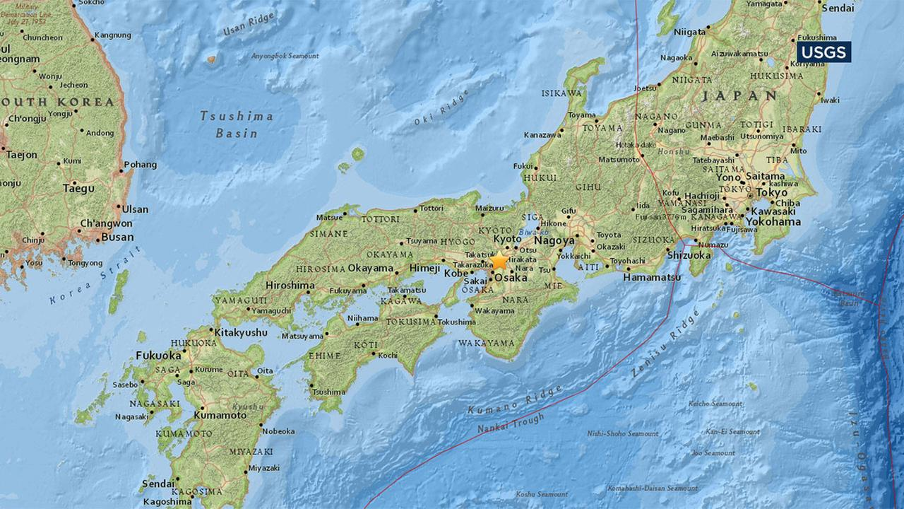 A magnitude 6.1 earthquake struck north of Osaka in western Japan.