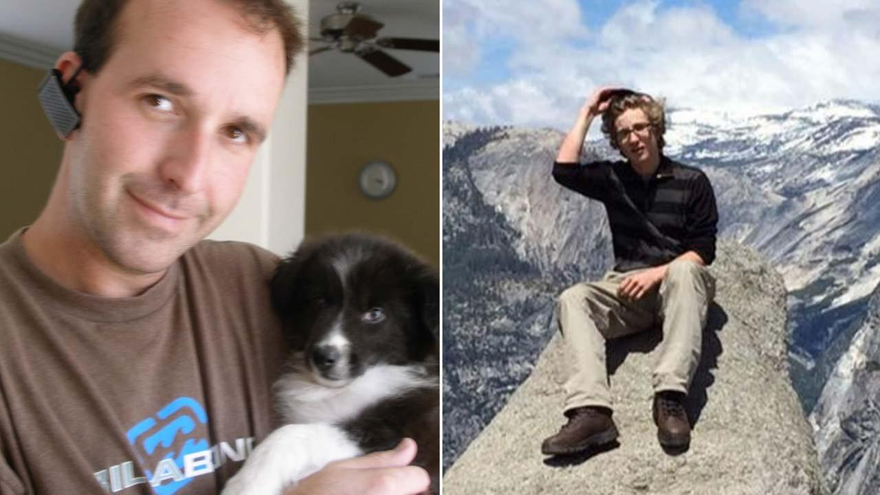 Matthew Kaplan, 44, and his 15-year-old stepson, Parker Gibson, are seen in photos sent to Eyewitness News from his family.