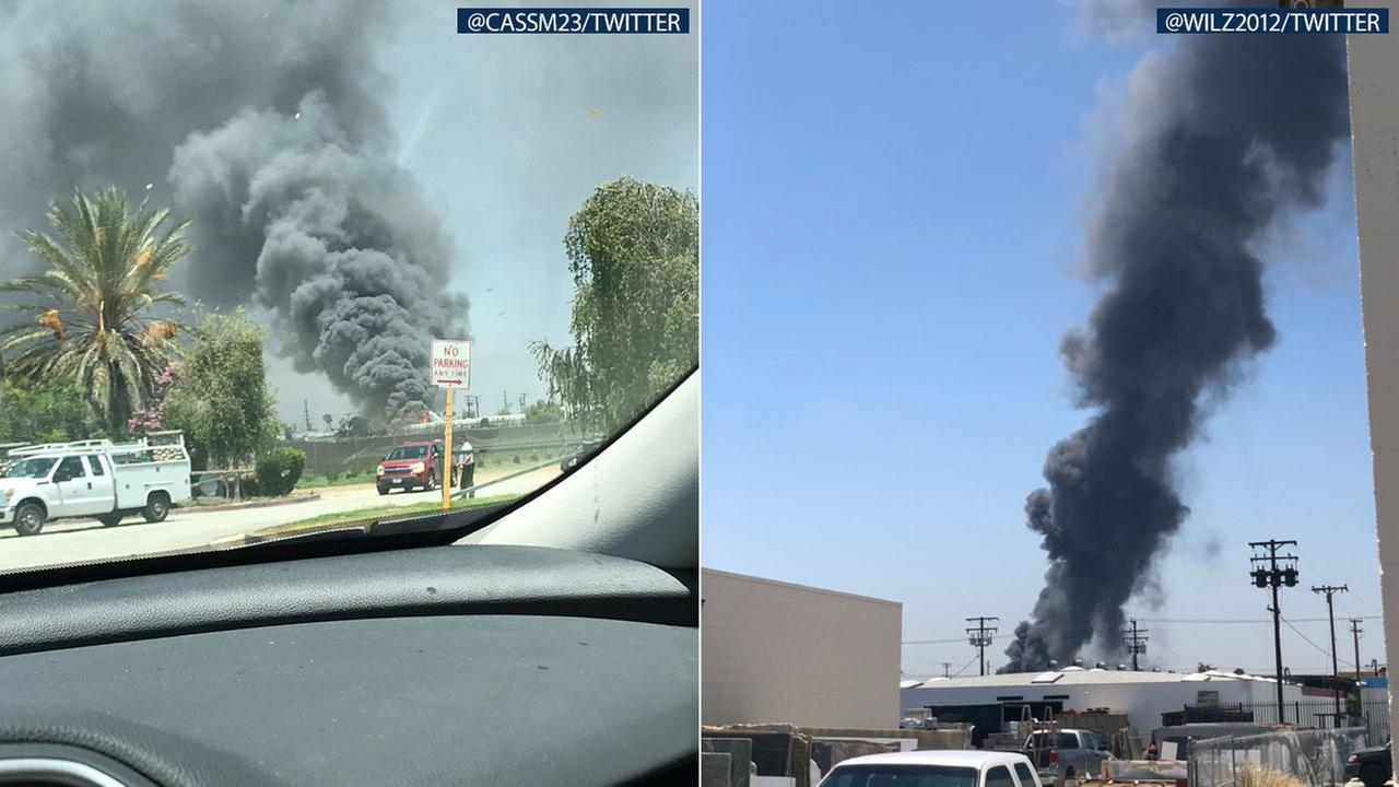 The L.A. County Fire Department extinguished a 3-alarm yard fire near a homeless encampment in South El Monte on Wednesday afternoon.