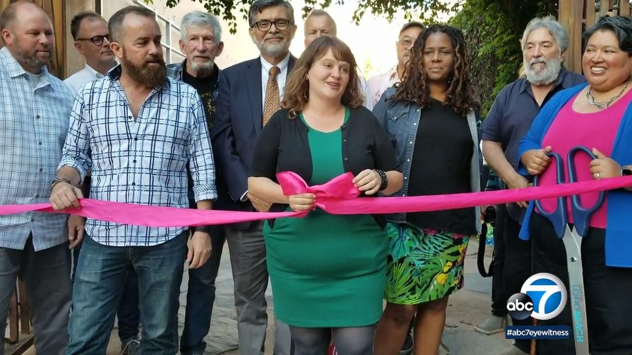 The East Village Arts Park in Long Beach has been re-opened.