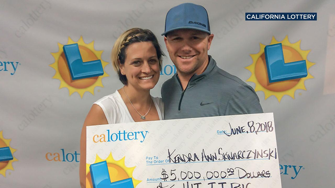 A couple from Huntington Beach became big winners after claiming a Lotto scratcher worth $5 million.