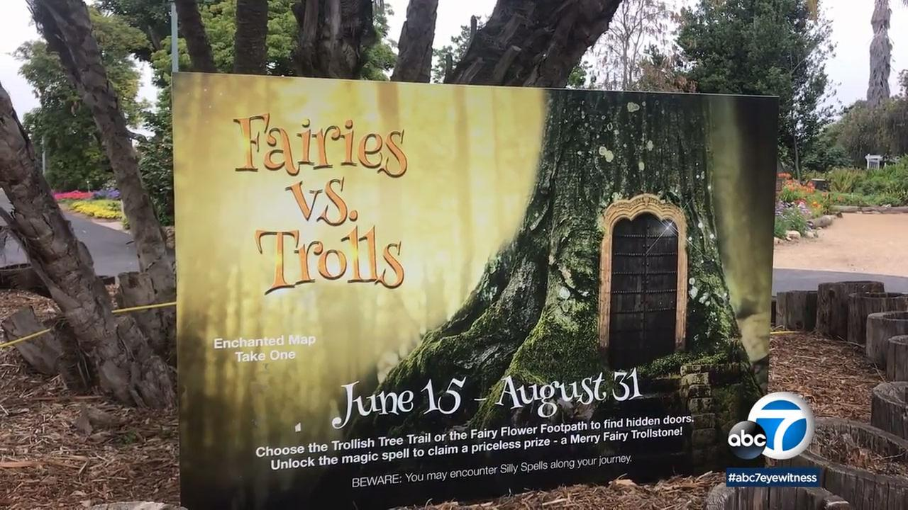 Kids of all ages are able to participate in the Fairies vs. Trolls Scavenger Hunt at the Rancho Palos Verdes botanic garden through the end of August.