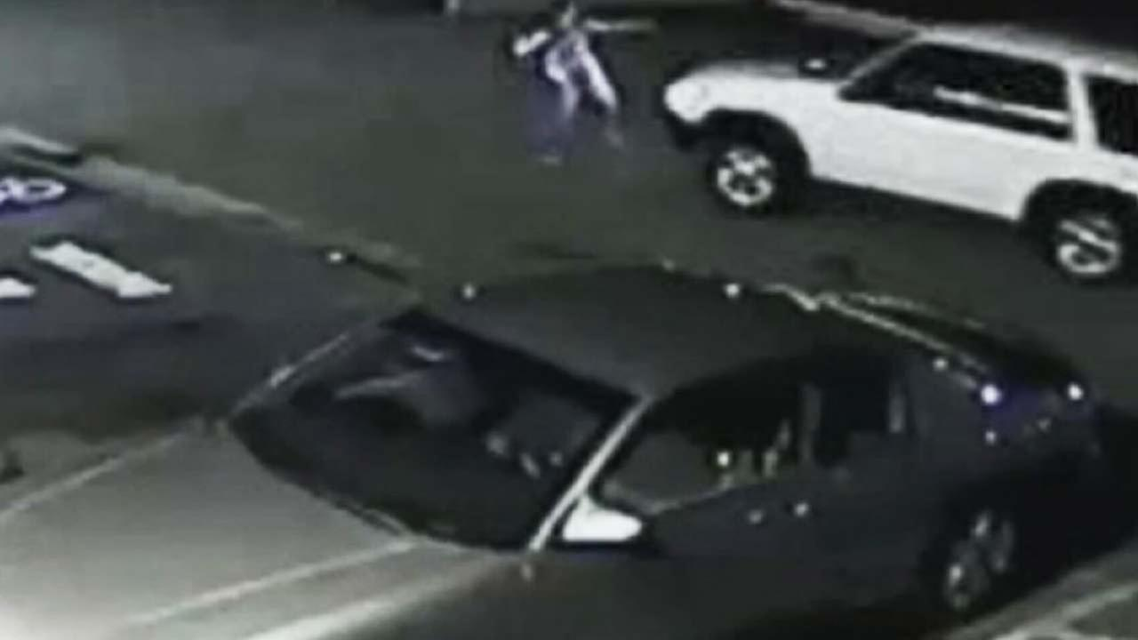 This surveillance still image shows the moments before a hit-and-run crash in South Los Angeles on Aug. 1, 2014.
