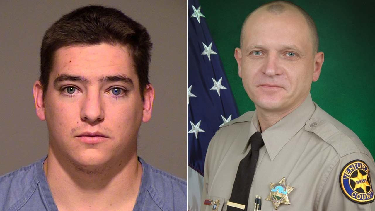 Ventura County Sheriffs Department Deputy Eugene Kostiuchenko, right, was struck by a car and killed Tuesday, Oct. 28, 2014. Kevin Hogrefe, 25, of Camarillo, was arrested for DUI.